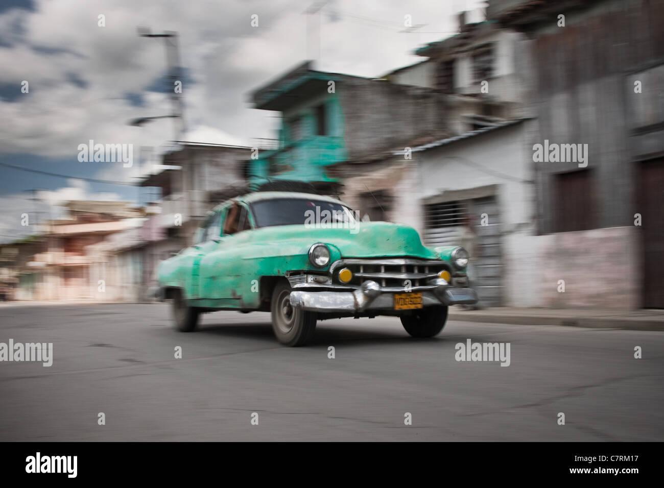 Vintage car in Santa Clara - Stock Image