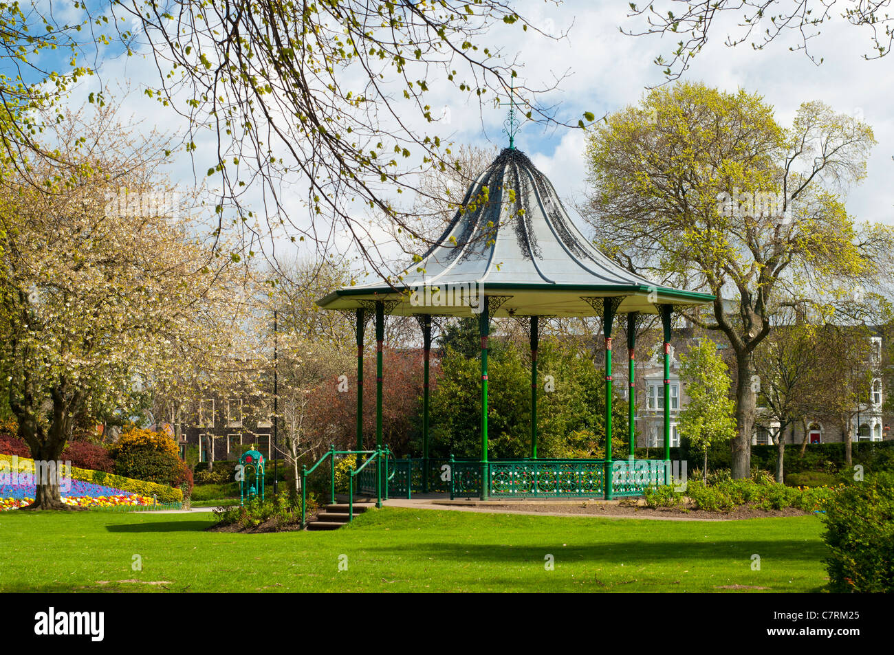 bandstand in spring - Stock Image
