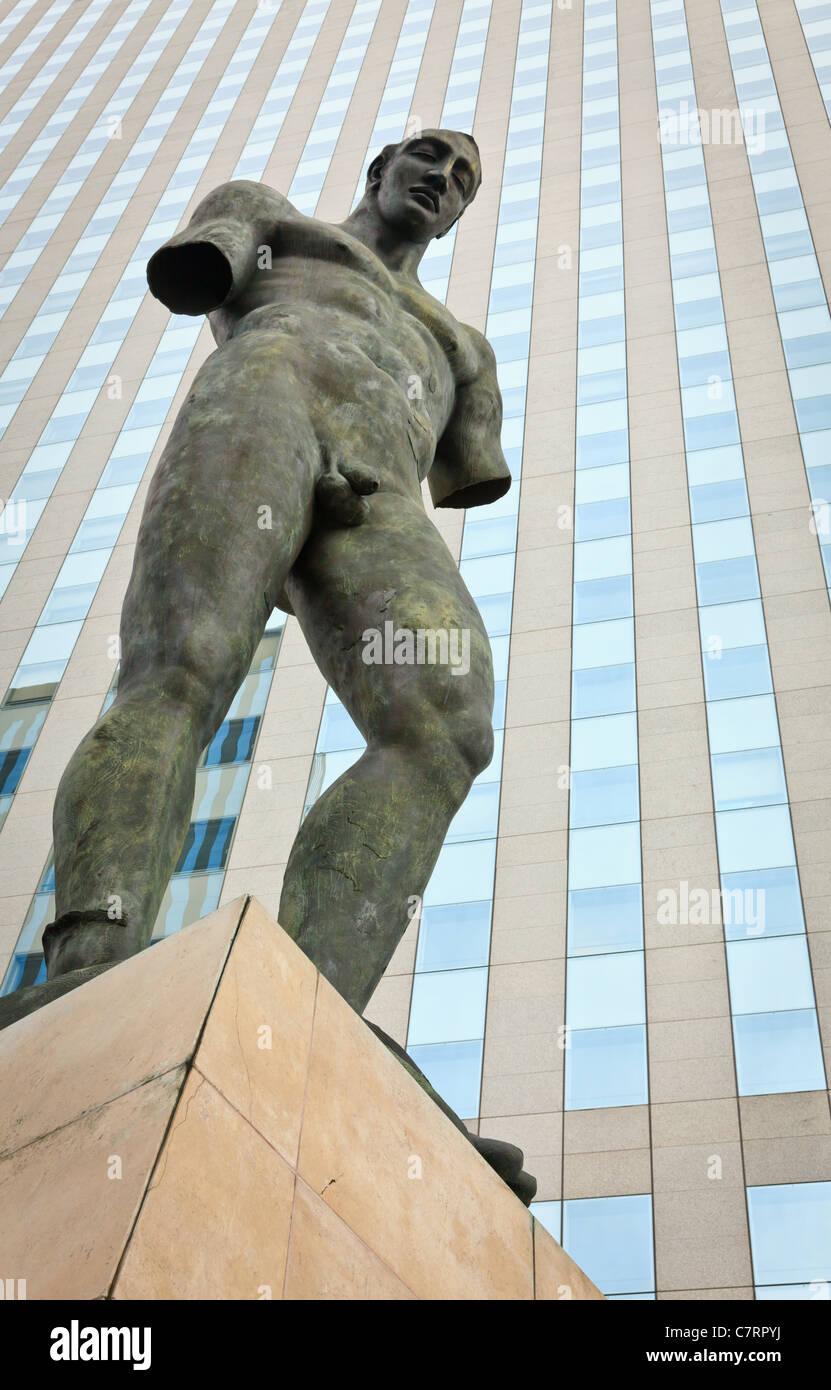 Sculpture from La défense district, Paris, France - Stock Image