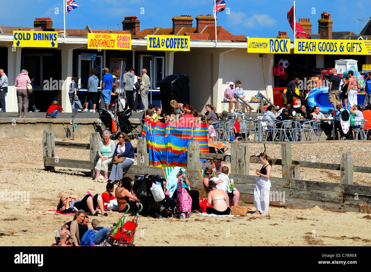 Littlehampton sea front on a summers day - Stock Image