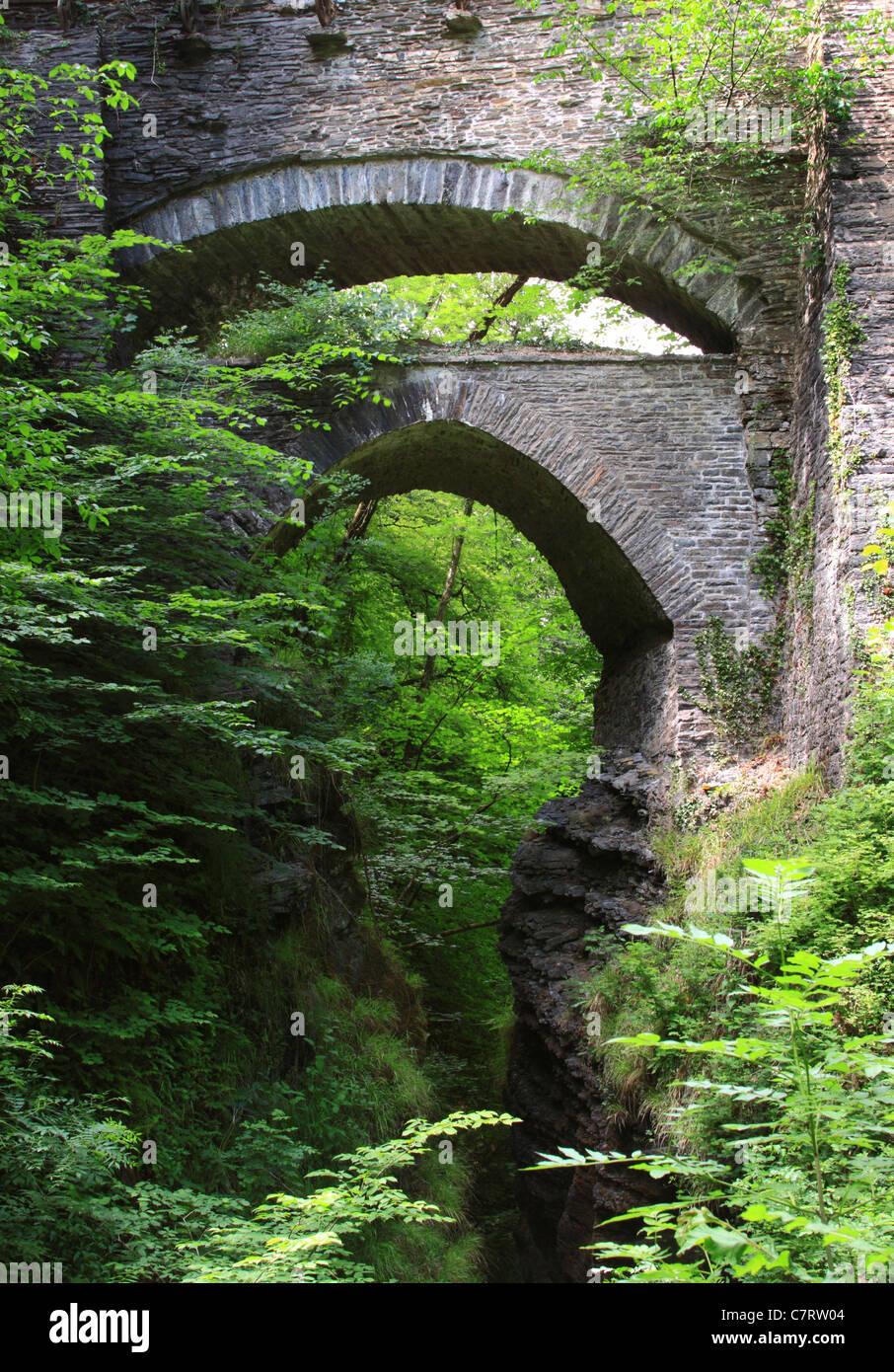 Devil's Bridge, Ceredigion, Wales, Europe - Stock Image