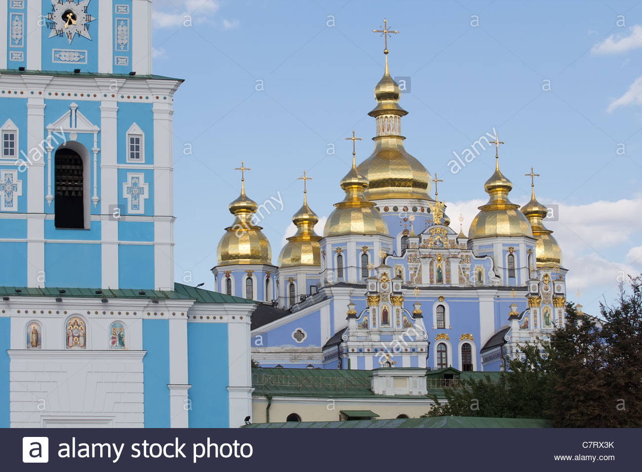 St. Michael cathedral in Kiev, Ukraine - Stock Image