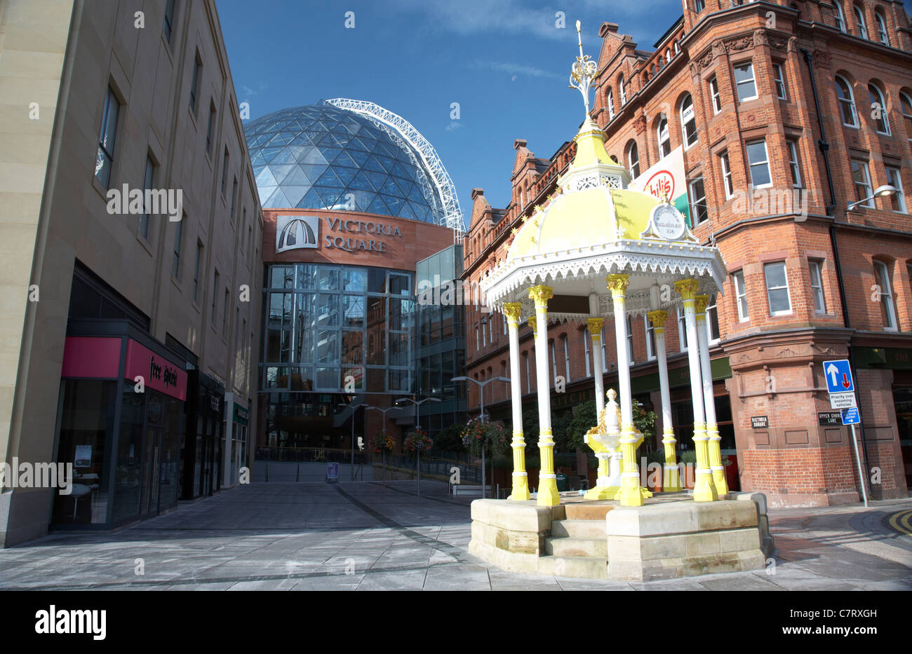 7481f561f39d4 Victoria Square shopping centre with the restored Jaffe Fountain, Belfast,  Northern Ireland, UK.