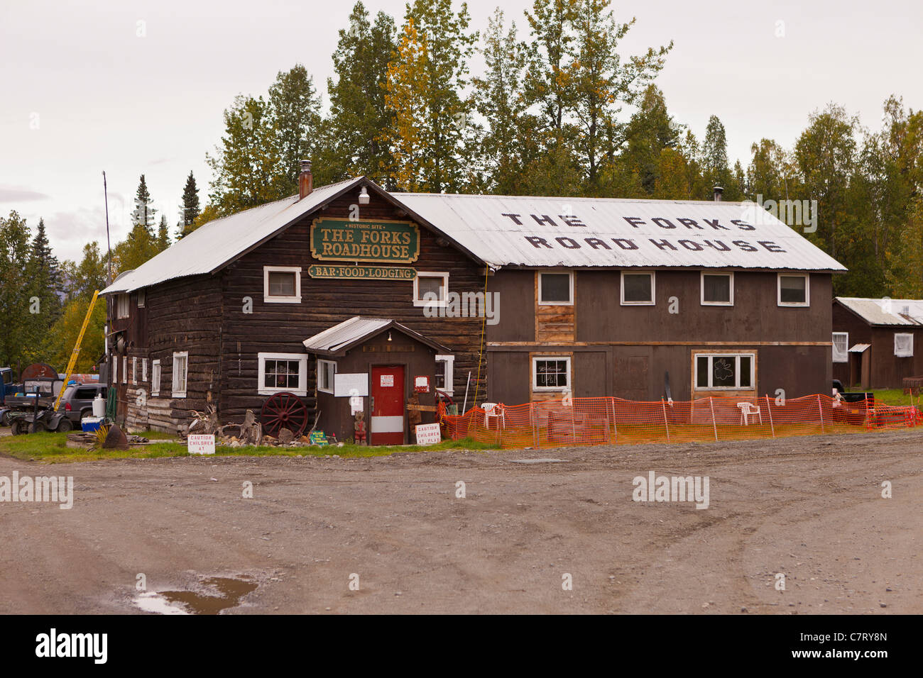 ALASKA, USA - The Forks Roadhouse, Petersville Road. - Stock Image