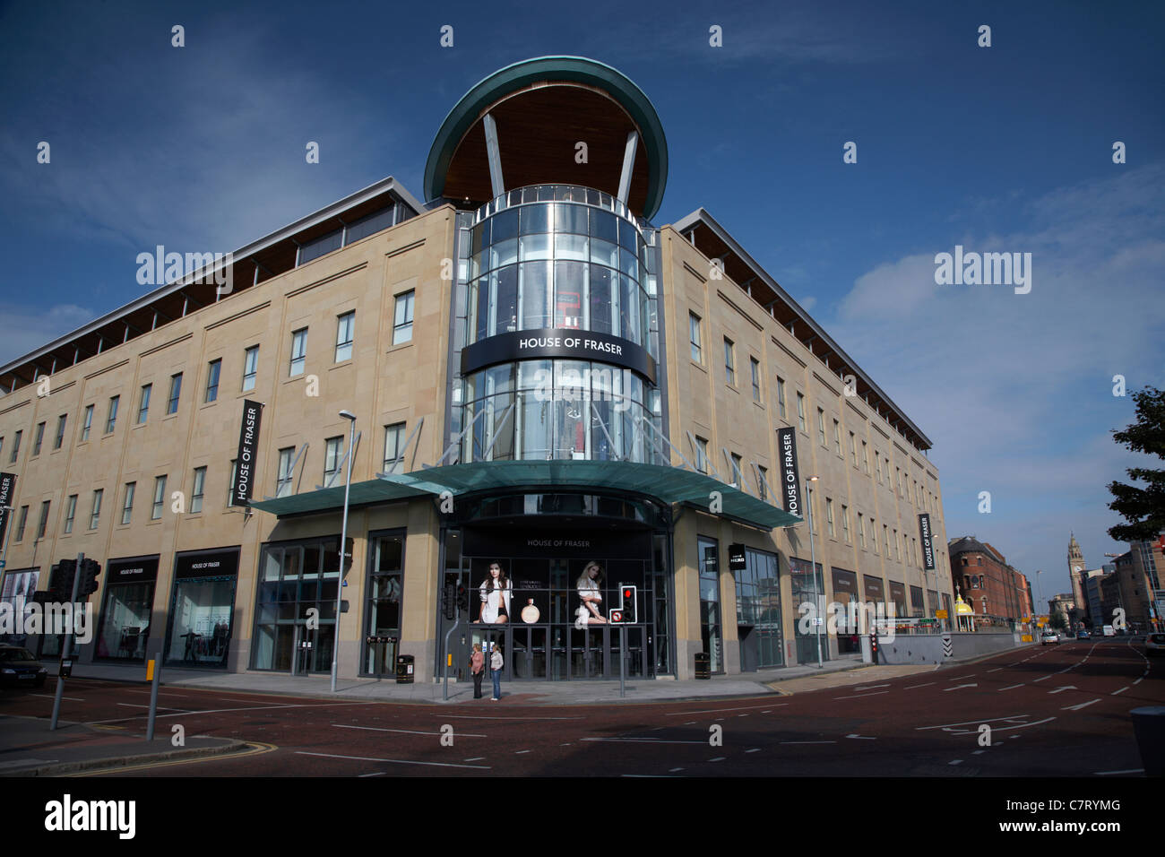 House of Fraser at Victoria Square shopping centre, Belfast, Northern Ireland, UK. - Stock Image