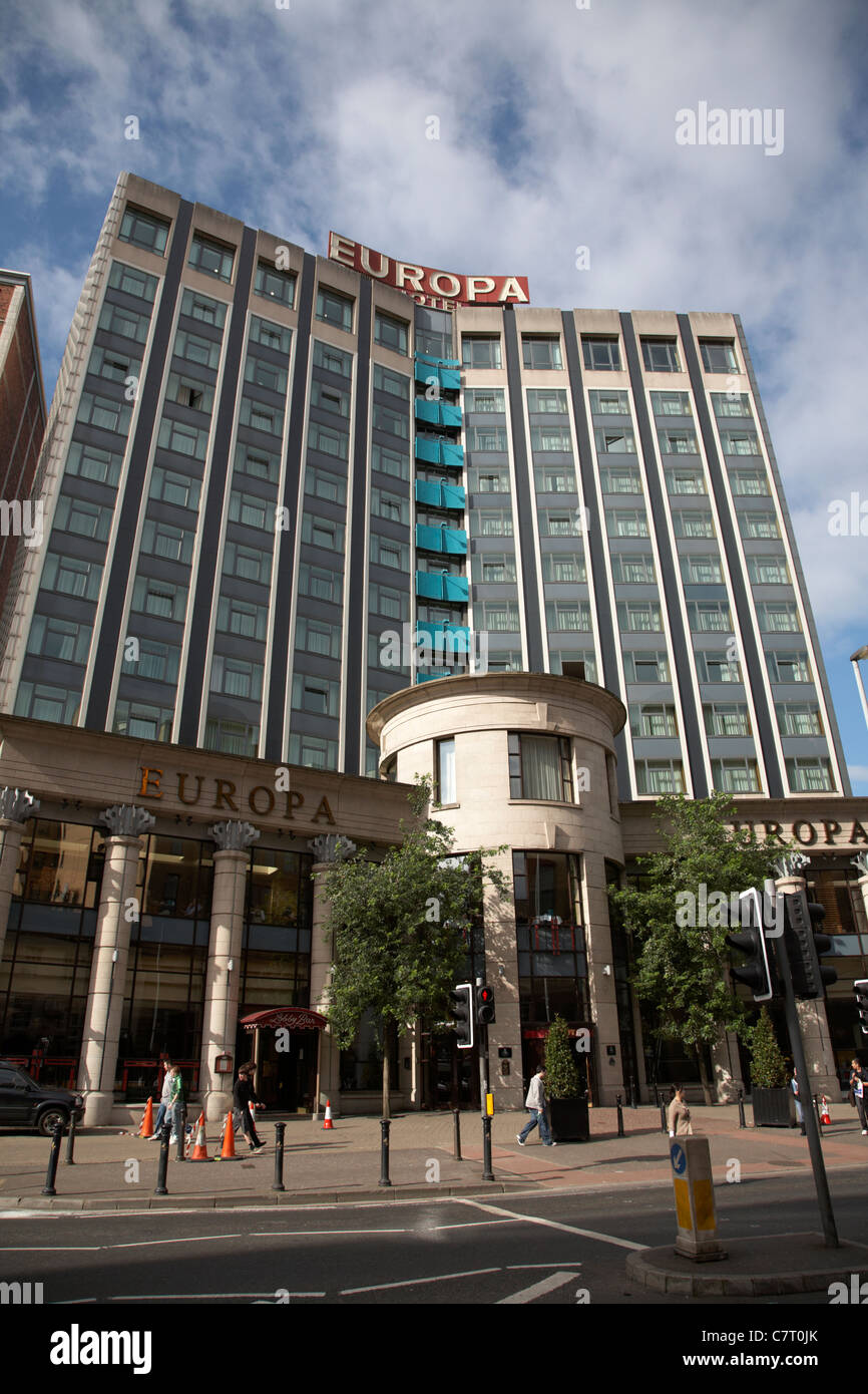 The Europa Hotel, Belfast city centre, Northern Ireland, UK. - Stock Image