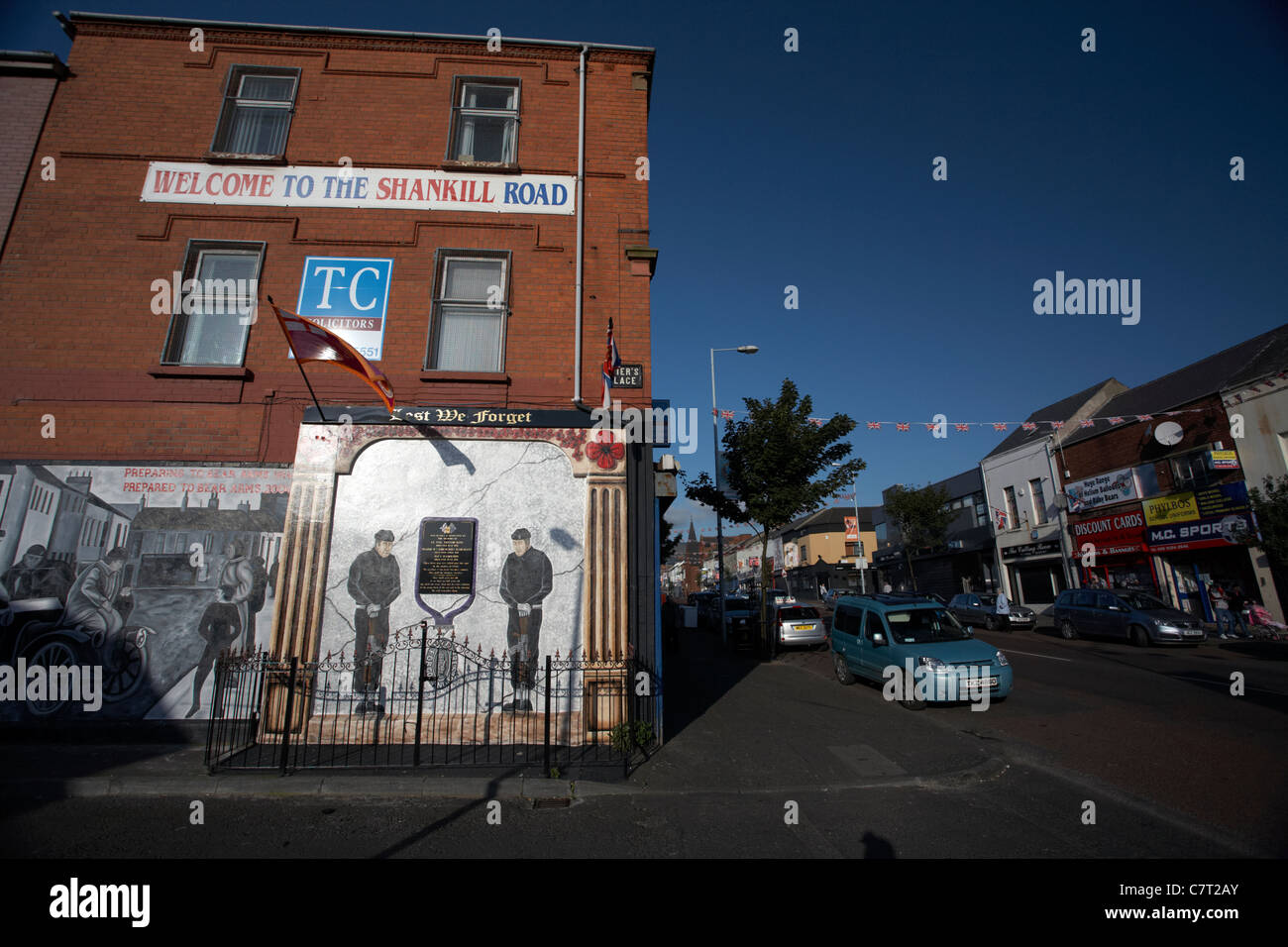 wall mural on the Shankill road, Belfast, Northern Ireland, UK. - Stock Image