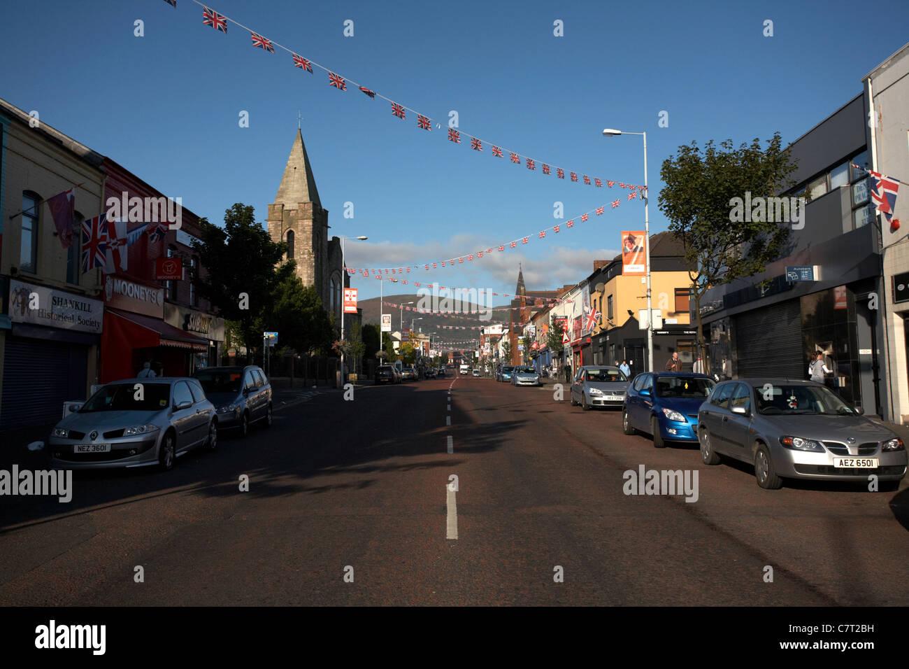 Shankill road, Belfast, Northern Ireland, UK. - Stock Image