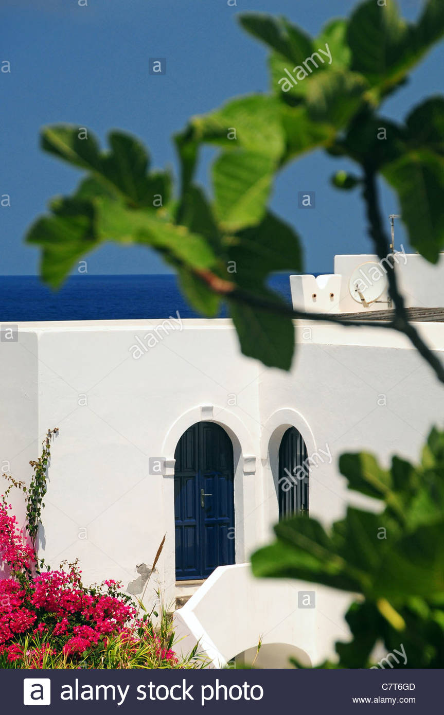Italy, Sicily, Aeolian Islands, Stromboli village - Stock Image
