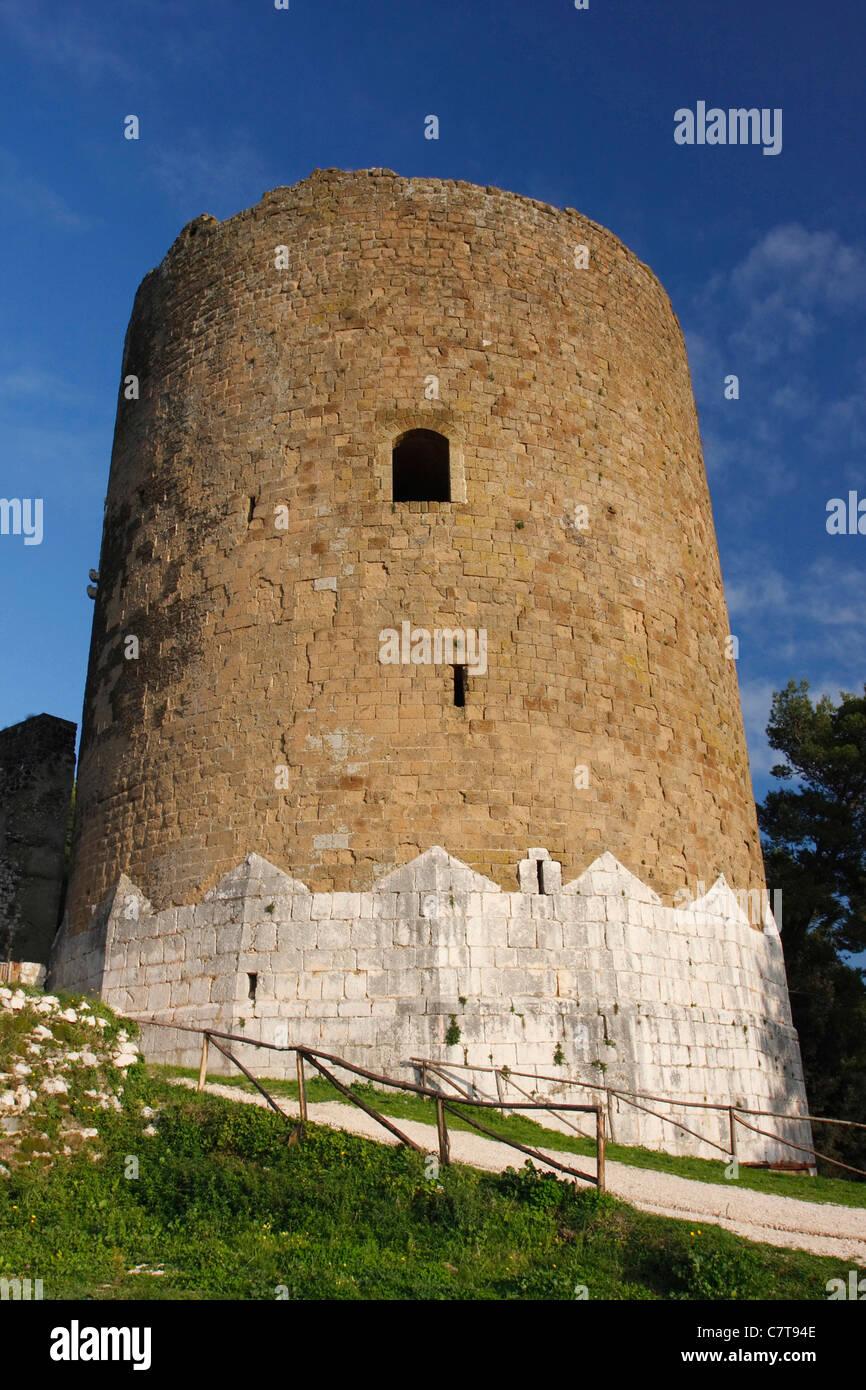 Italy, Campania, Caserta, tower of Caserta Vecchia Stock Photo