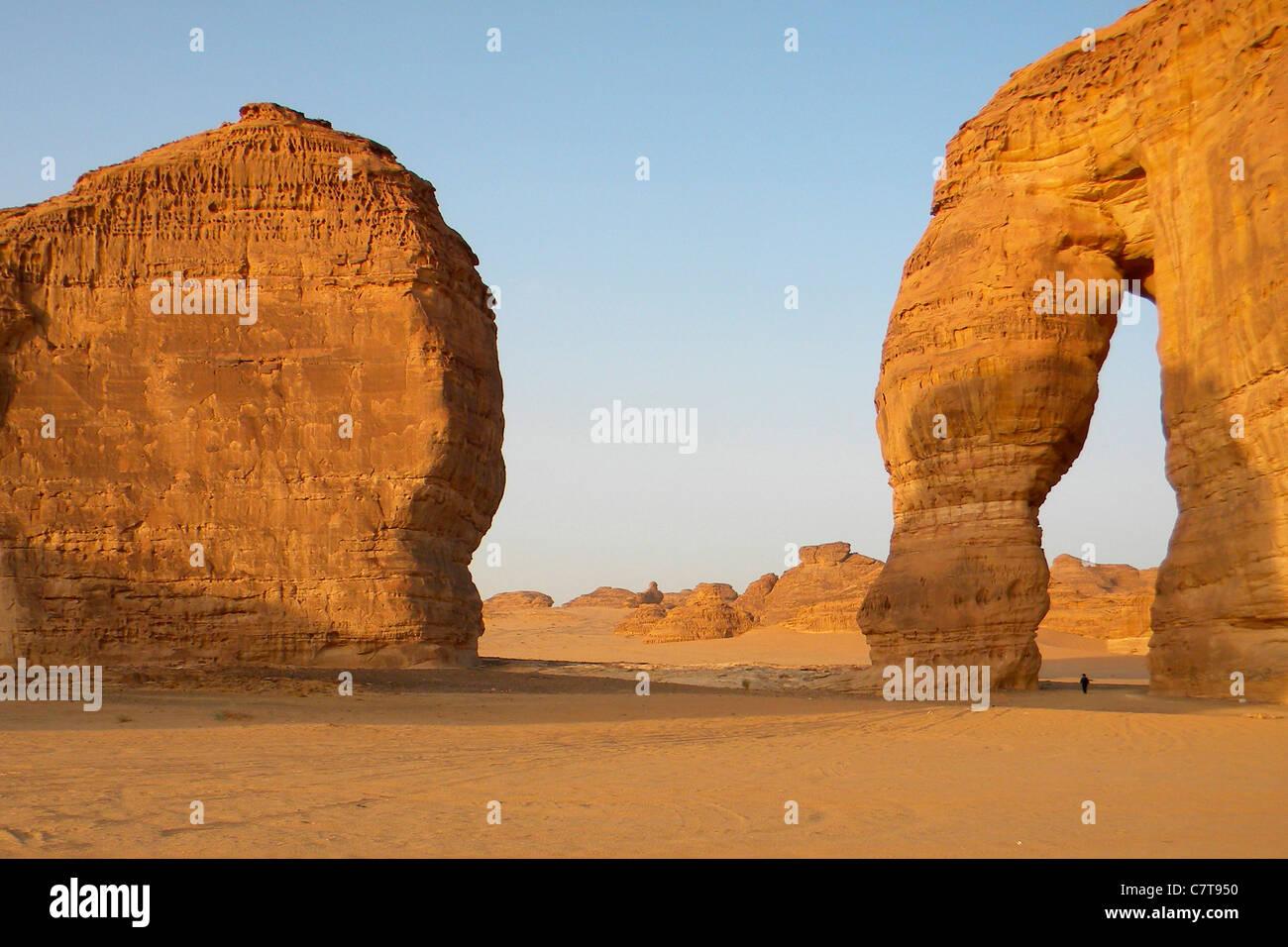 Saudi Arabia, Al Ula the elephant rock - Stock Image
