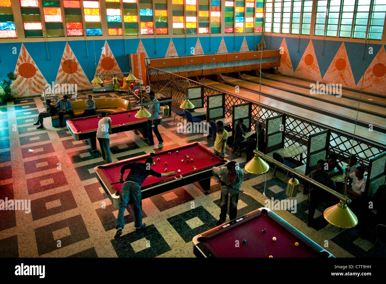 Africa, Eritrea, Asmara, the bowling club - Stock Image