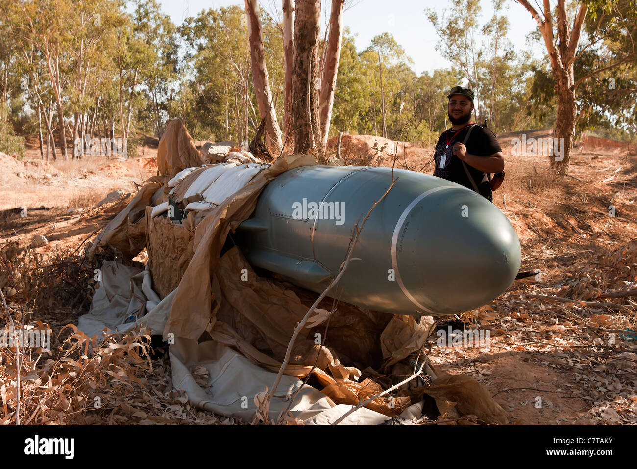 P 21 Styx  radar guided cruise missile used by Col Gaddafi conflict war civil Qaddafi weapon - Stock Image