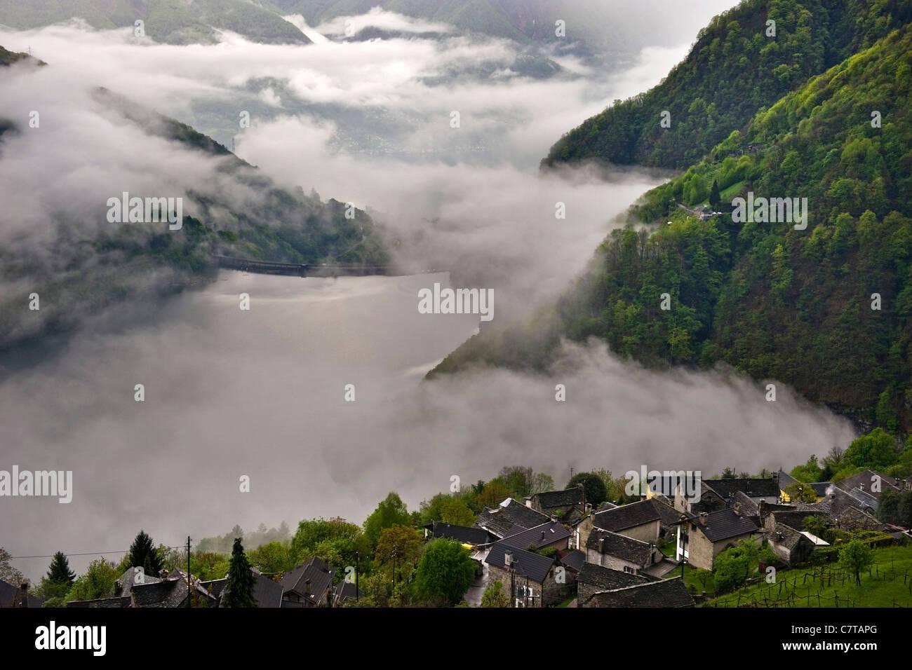 Switzerland, Swiss Alps, Ticino Canton, Mergoscia valley - Stock Image