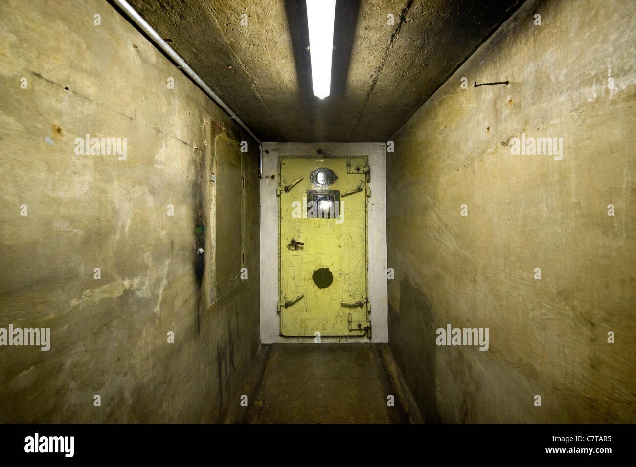 Switzerland, fallout shelter Stock Photo