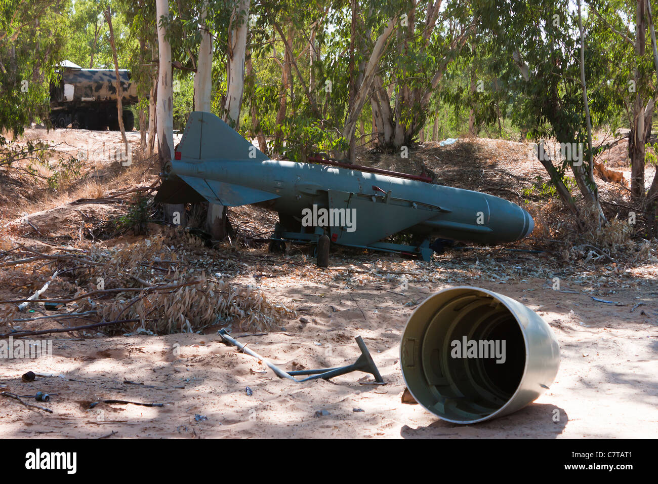 P 21 Styx  radar guided cruise missile used by Col Gaddafi - Stock Image