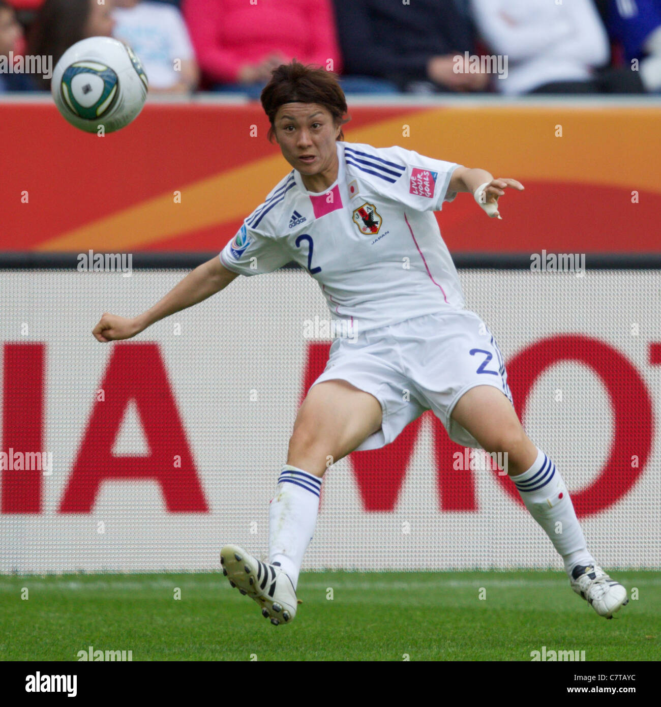 Yukari Kinga of Japan in action during a FIFA Women's World Cup Group B match against Mexico July 1, 2011. - Stock Image
