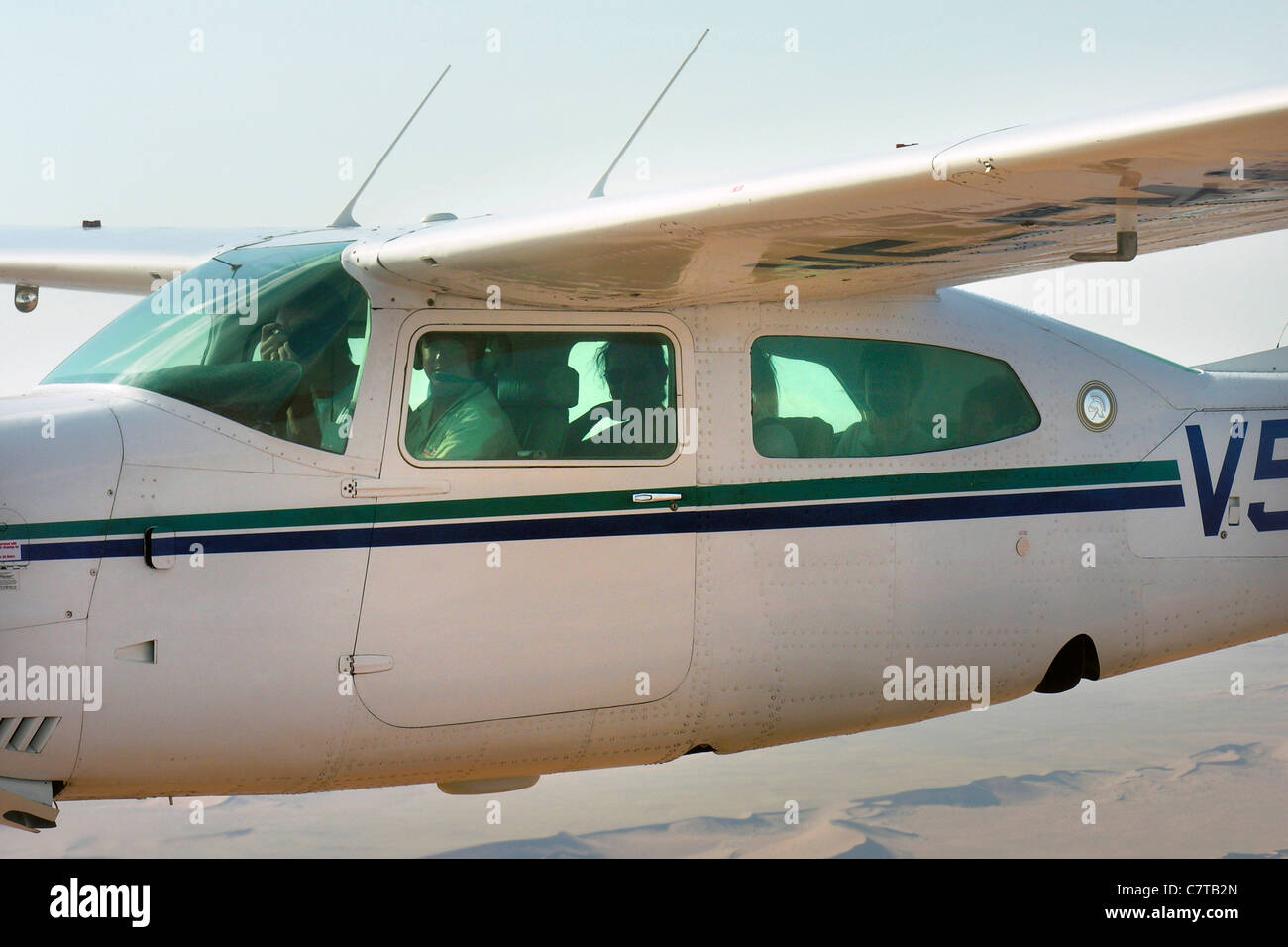 Cessna 210 airplane - Stock Image