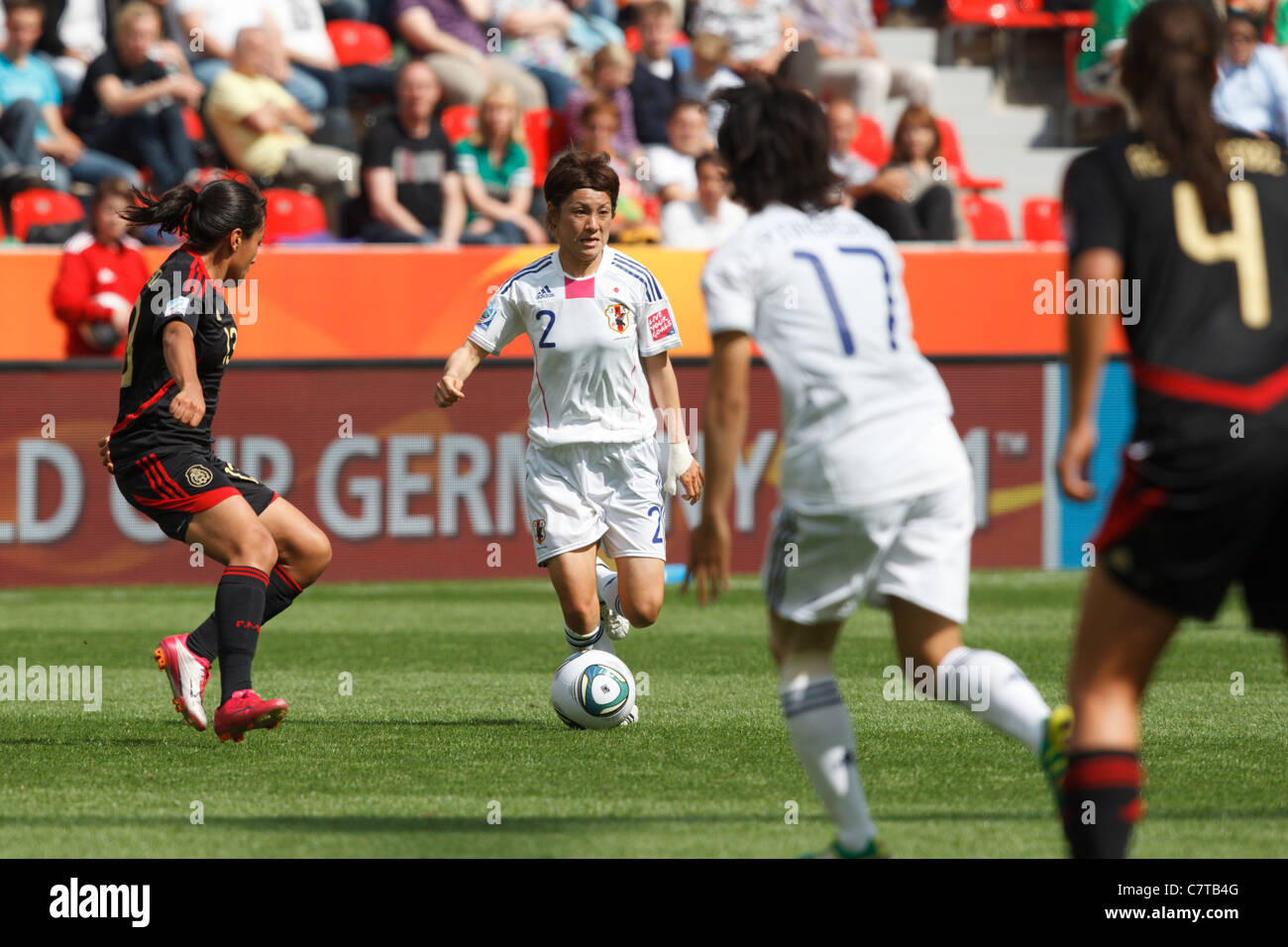 Yukari Kinga of Japan controls the ball during a FIFA Women's World Cup Group B match against Mexico July 1, - Stock Image