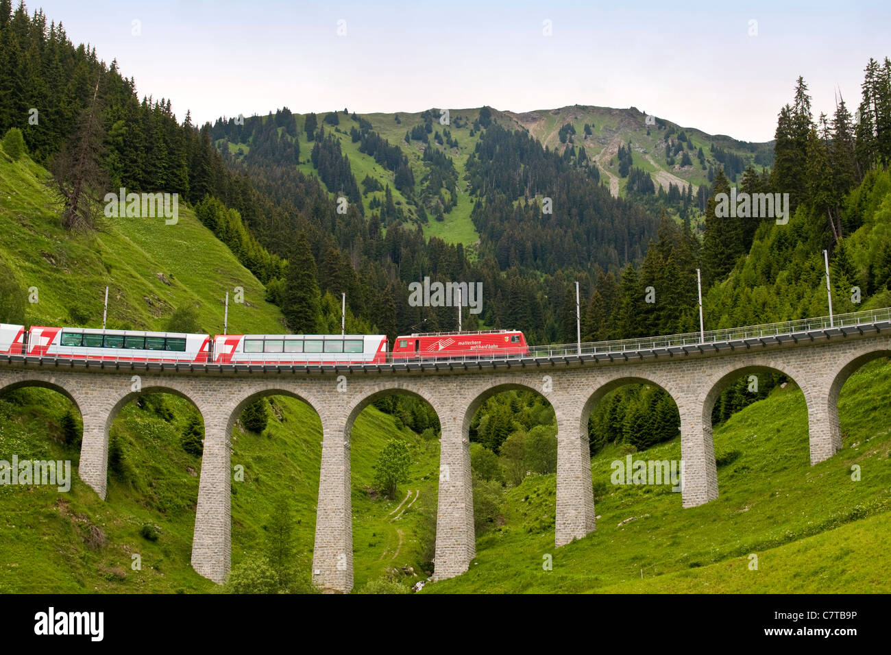 Europe, Switzerland, the Glacier Express - Stock Image