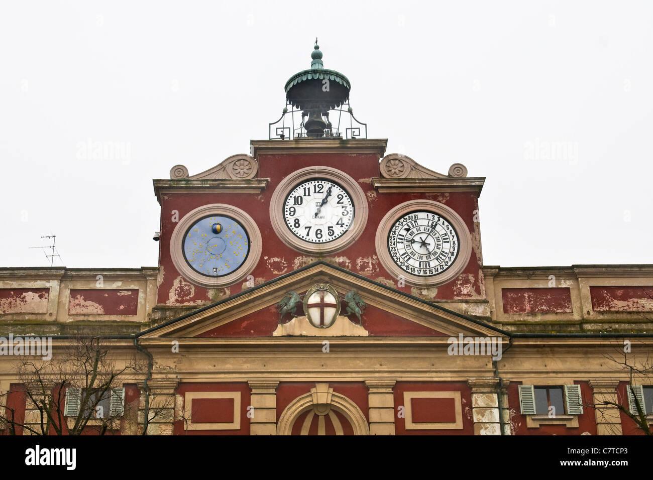 Italy, Piedmont, Alessandria, Piazza Libertà, the city hall - Stock Image