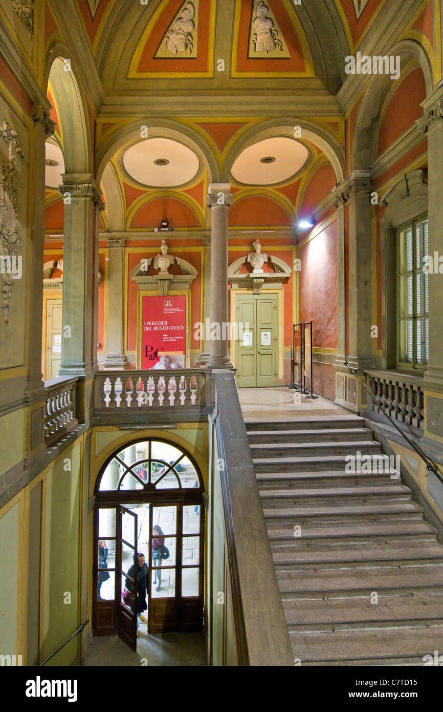Italy, Piedmont, Alessandria, interiors of the Vivaldi conservatory - Stock Image