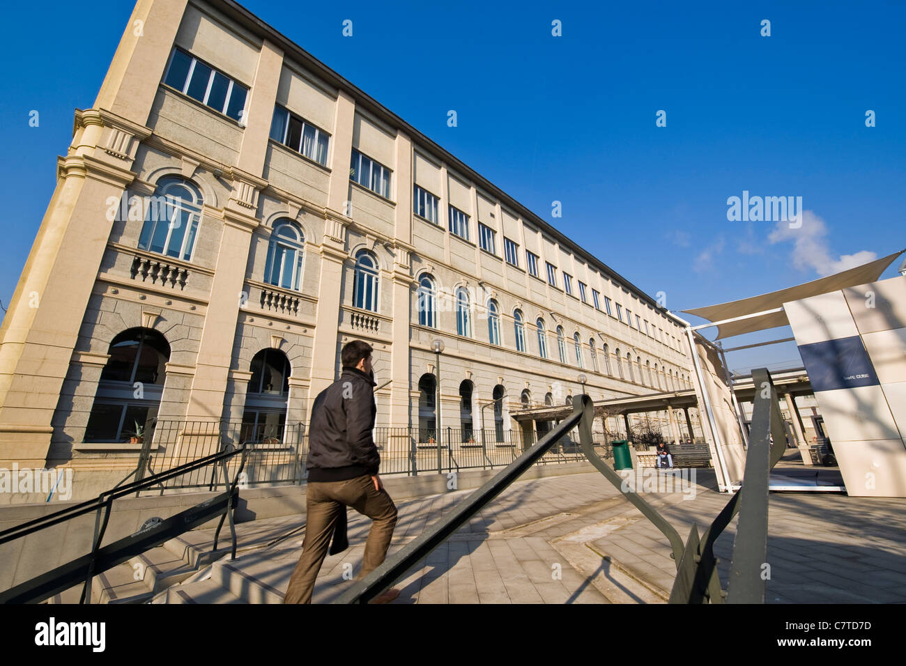 Italy, Lombardy, Milan, the faculty of engineering, Polytechnic university - Stock Image