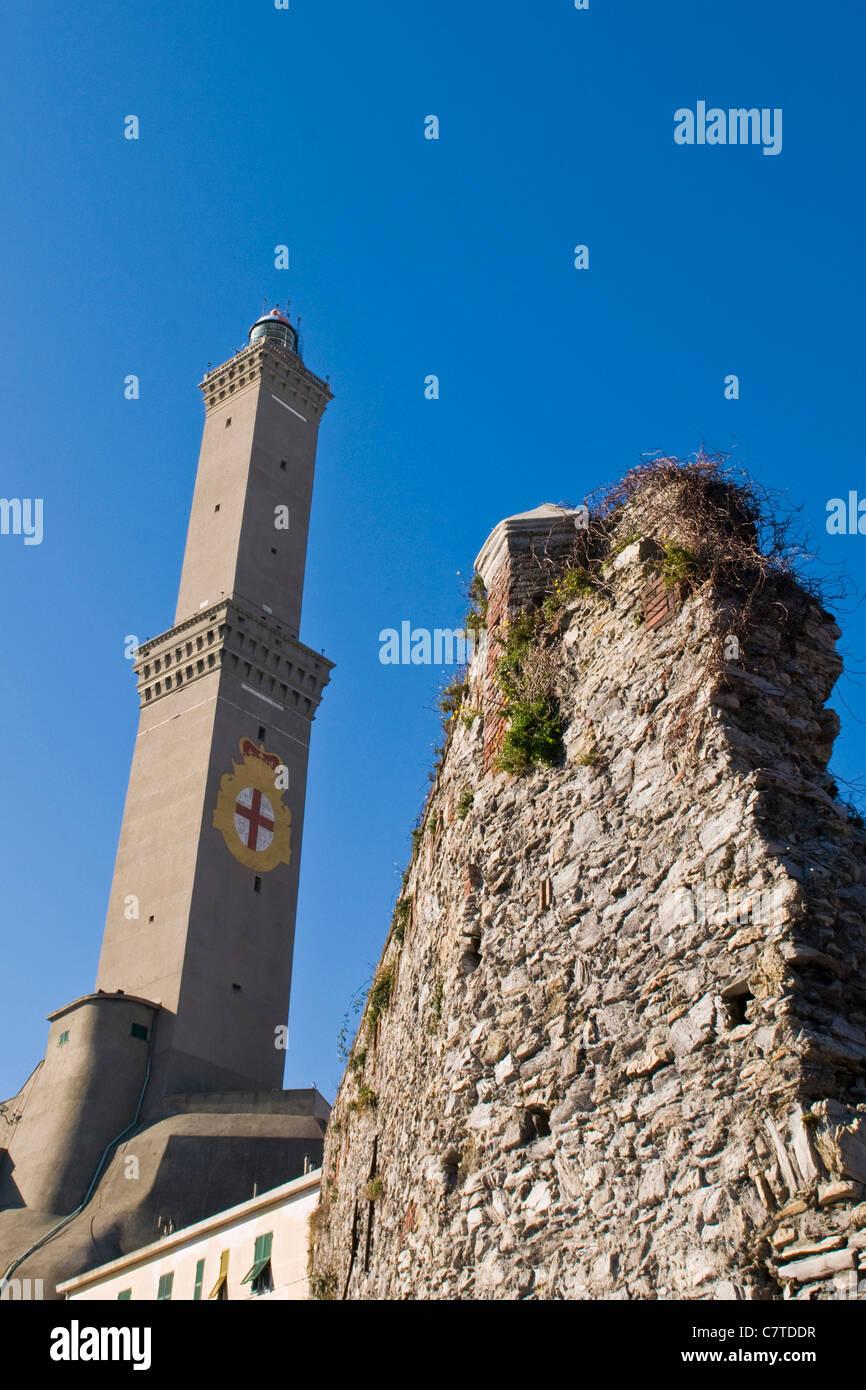 Italy, Liguria, Genoa, the lighthouse: La Lanterna - Stock Image