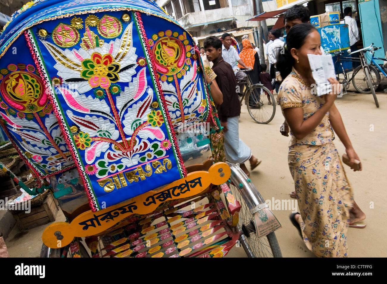 Bangladesh, Dhaka, rickshaw - Stock Image