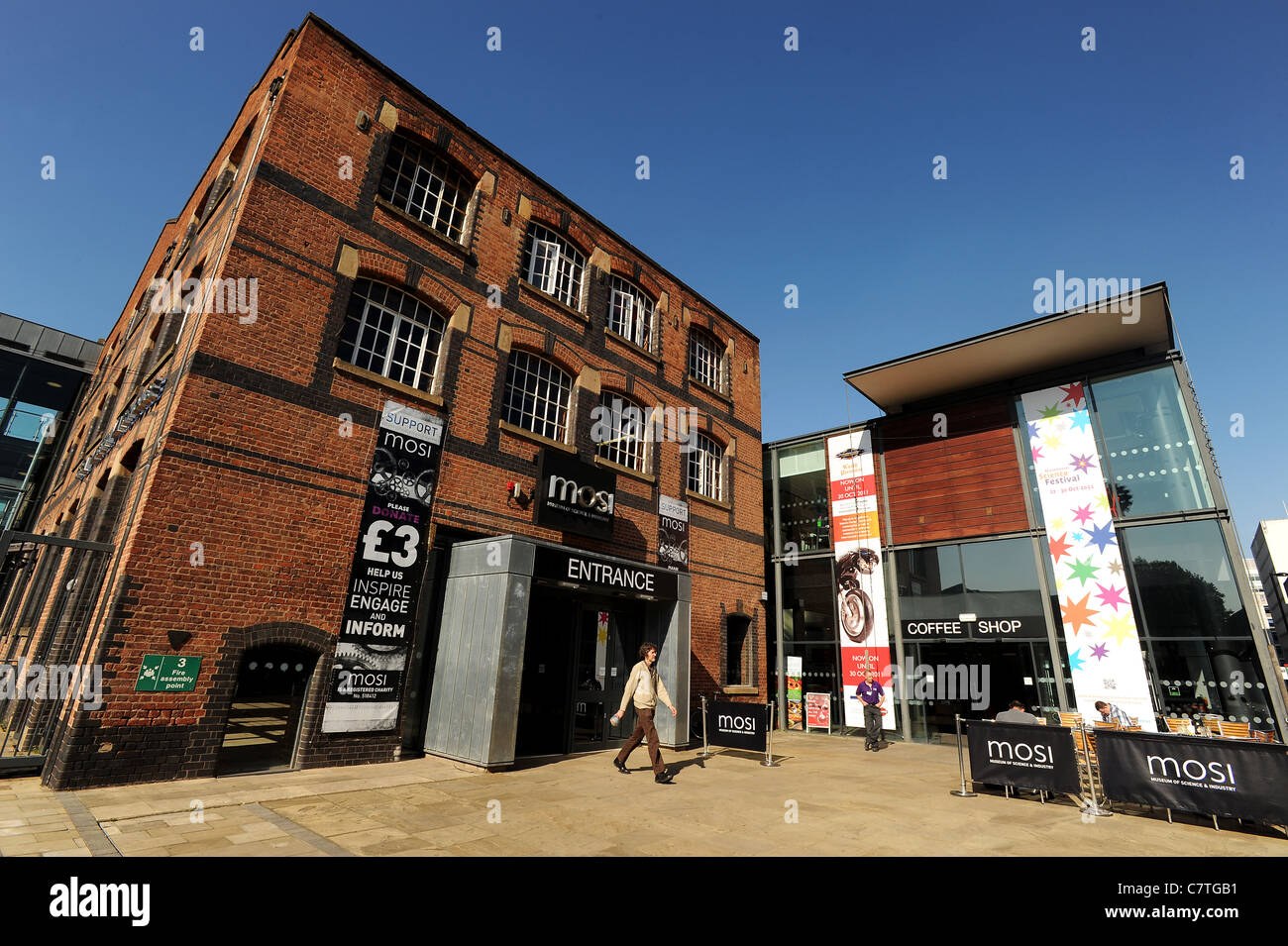The entrance of the Museum of Science and Industry, Manchester, England. Picture by Paul Heyes, Wednesday September - Stock Image