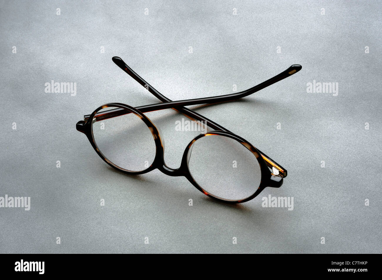 PAIR OF GLASSES OR READING GLASSES Stock Photo