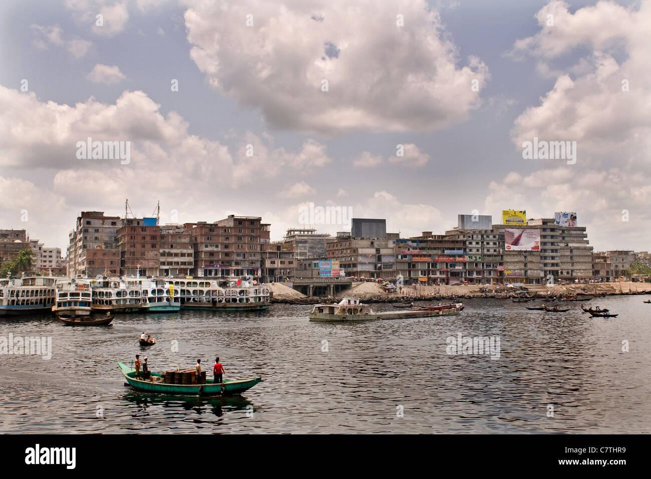 Bangladesh, Dhaka, the harbour - Stock Image