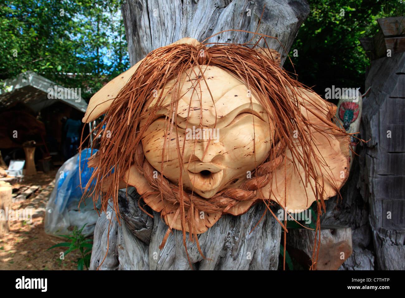 Maple burl vase sculpture center piece wood carvingwood carving