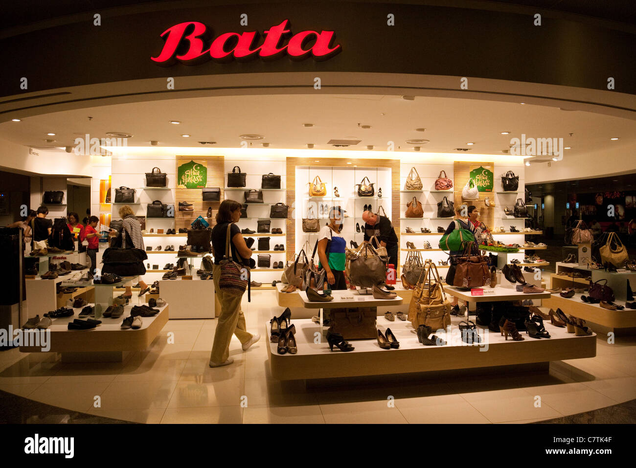 6791036fee6b Bata shoes and leather goods store, Changi airport, Singapore - Stock Image