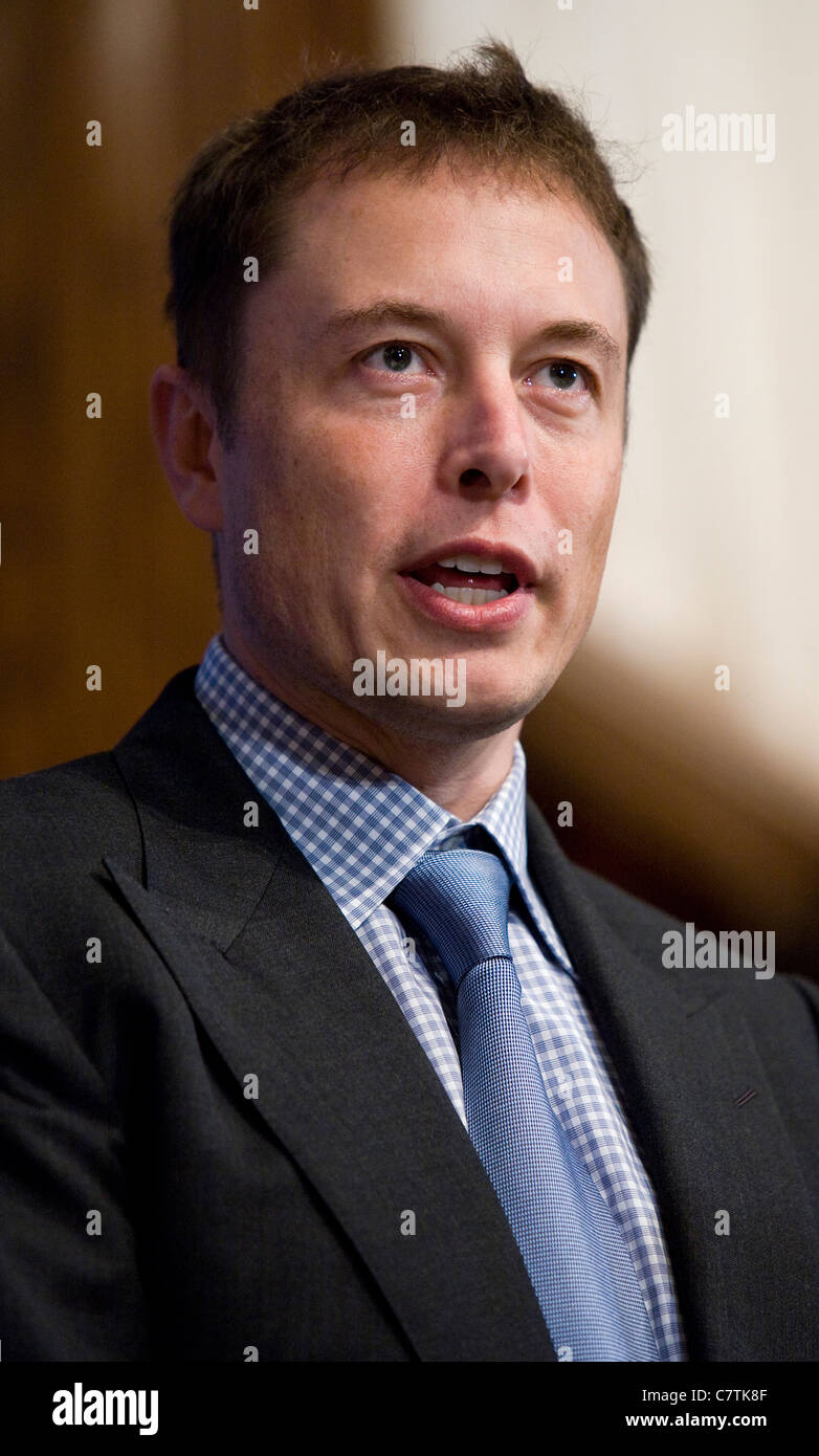SpaceX and Tesla Motors CEO Elon Musk.  Stock Photo