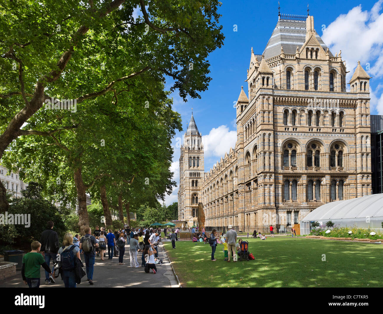 The Natural History Museum, Exhibition Road, South Kensington, London, England, UK - Stock Image