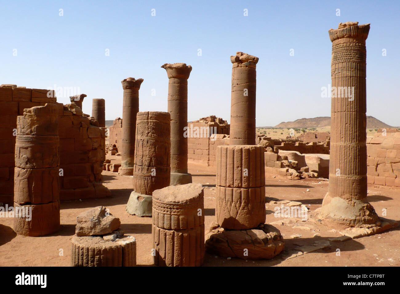 Africa, Sudan, Nubia, Musawwarat, archaelogical site - Stock Image