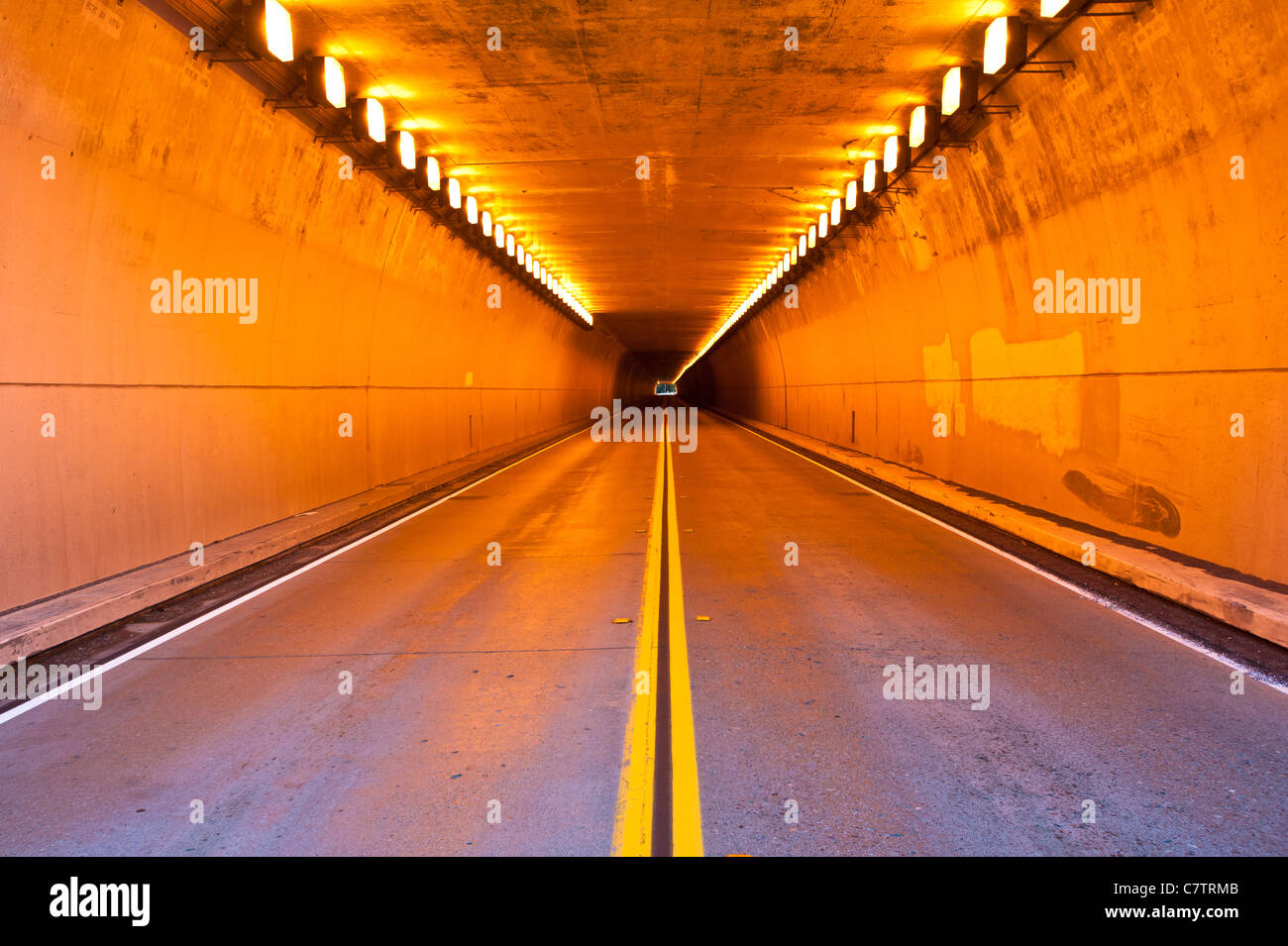 """Opened July 20, 1963, the Randolph Collier Tunnel project turned a """"jeep path"""" between Grants Pass and Crescent - Stock Image"""