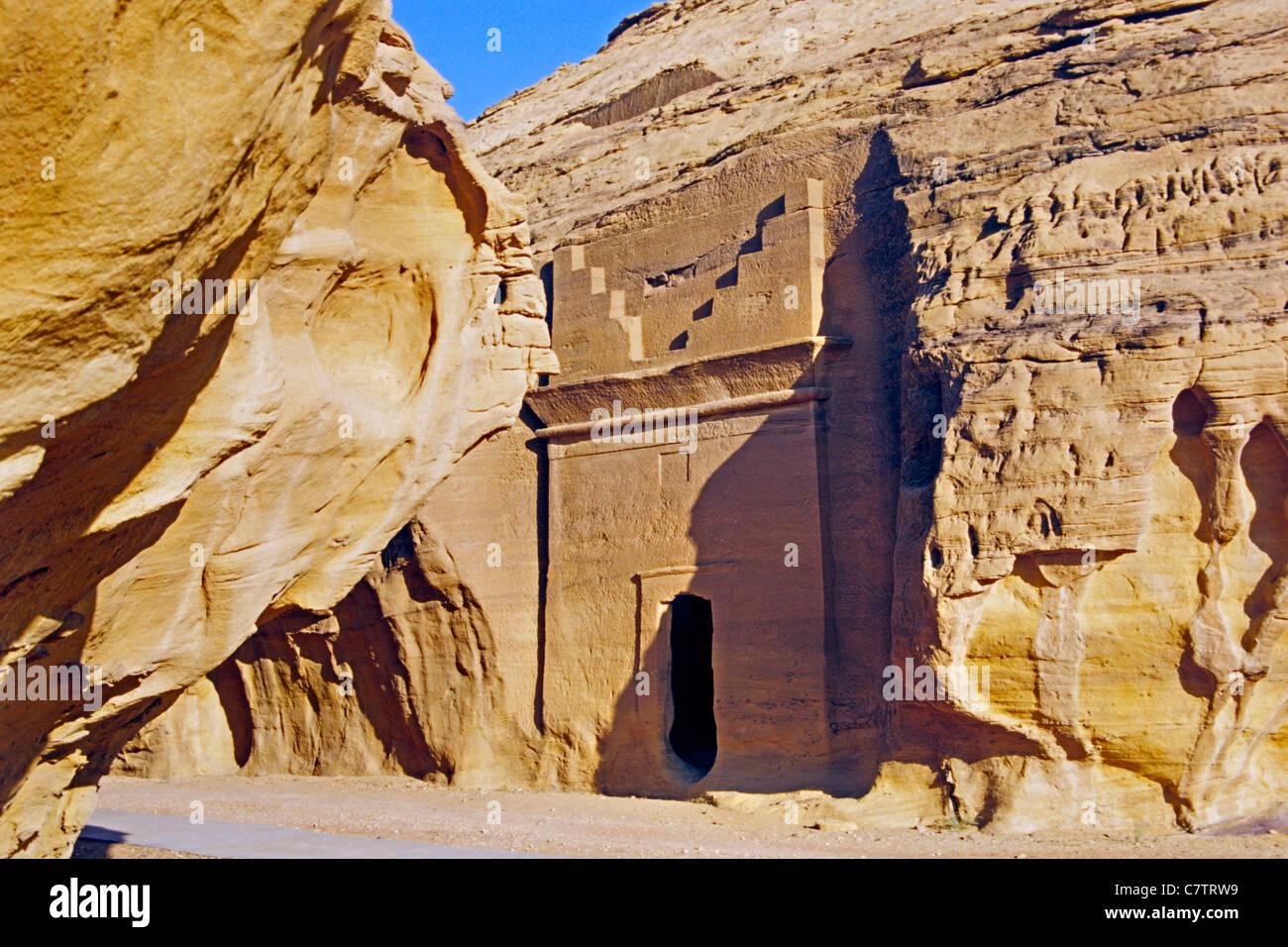 Saudi Arabia, Dedan necropolis - Stock Image