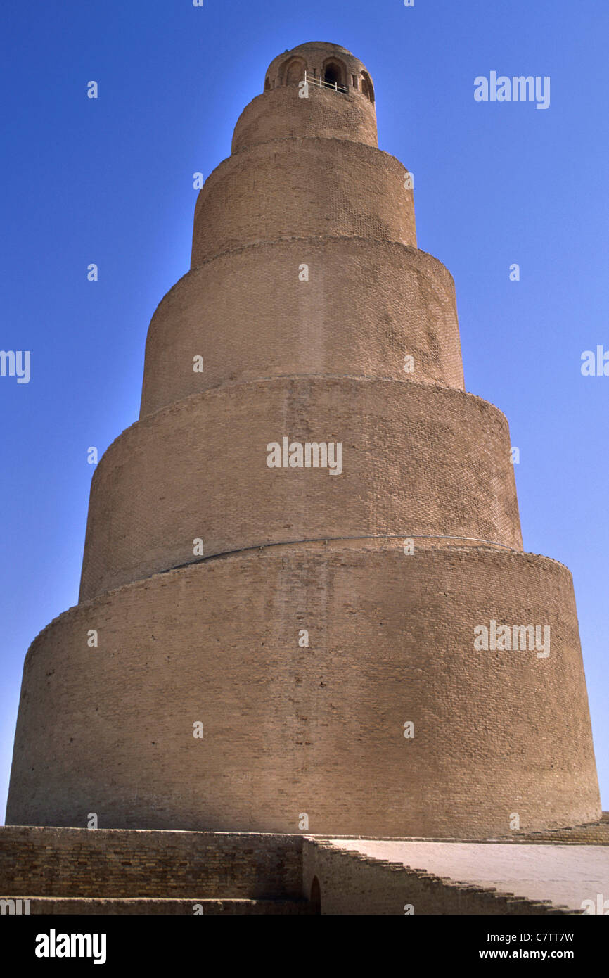 Irak, Samarra, Great Malwiya Mosque (852 AC) - Stock Image