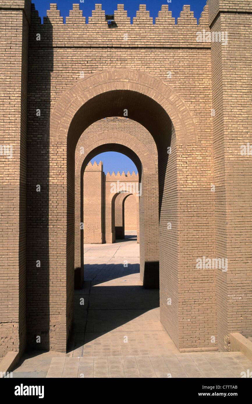 South side of Nabuchodonosor Palace, Babylon, Irak - Stock Image