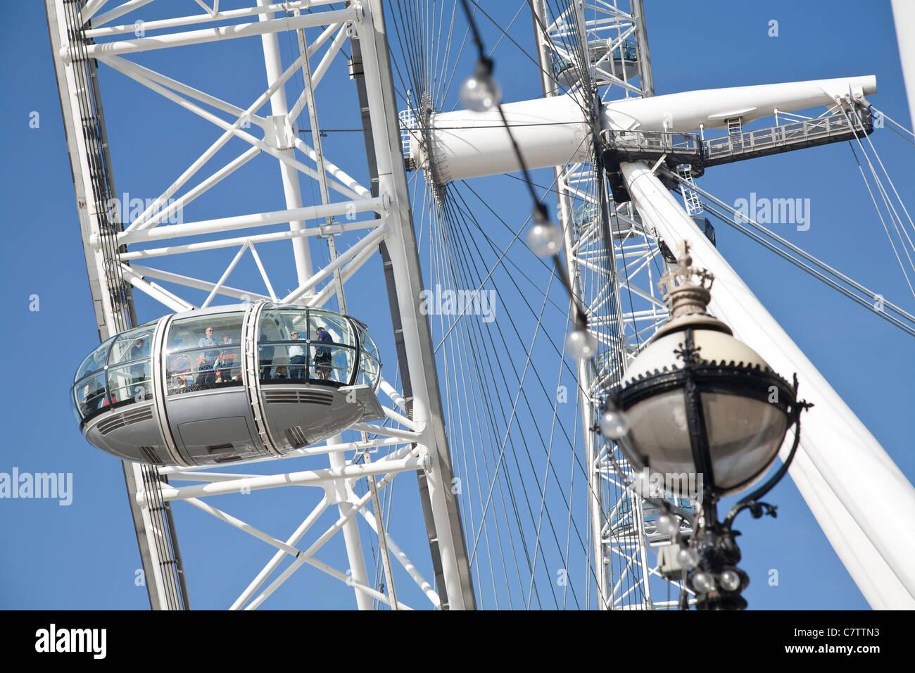 Passenger capsule on the London Eye, the Millennium Wheel - Stock Image
