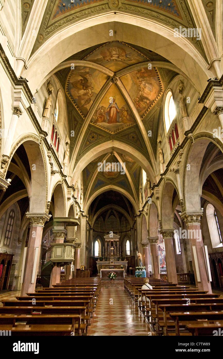 Italy, Piemont, Collegiata of Santa Maria church - Stock Image