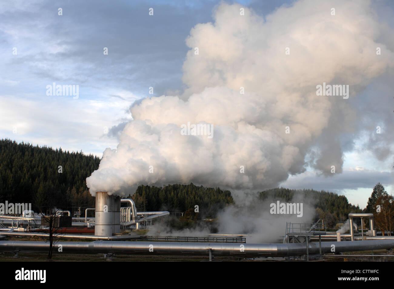 Geothermal Heat Pump Stock Photos Power Plant Block Diagram Wairakei Taupo New Zealand Image