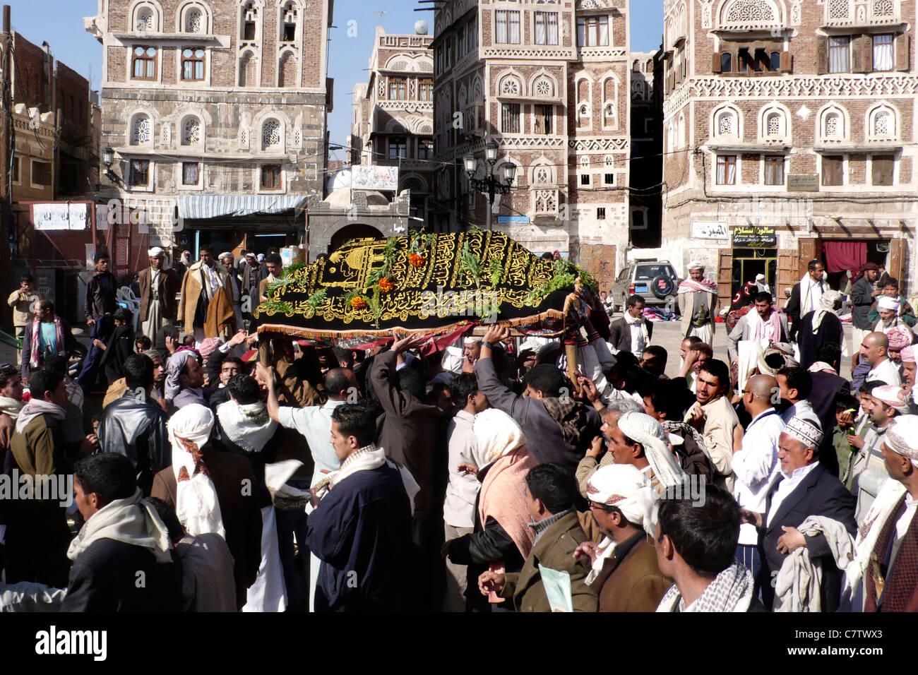 Yemen, Sanaa, funeral - Stock Image