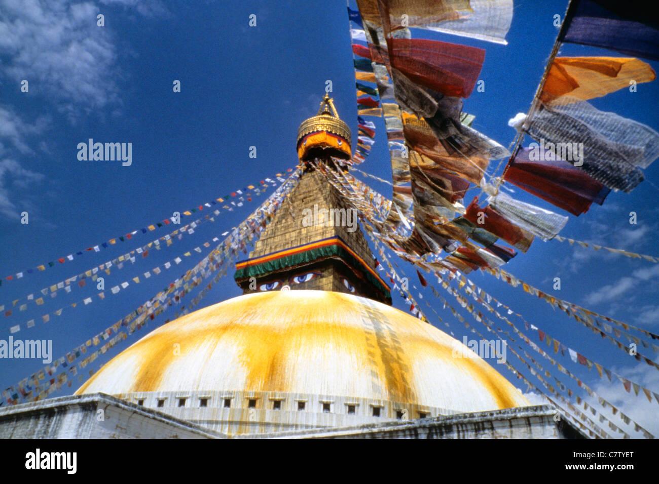 Nepal, Katmandu, Boudhanath Stupa - Stock Image