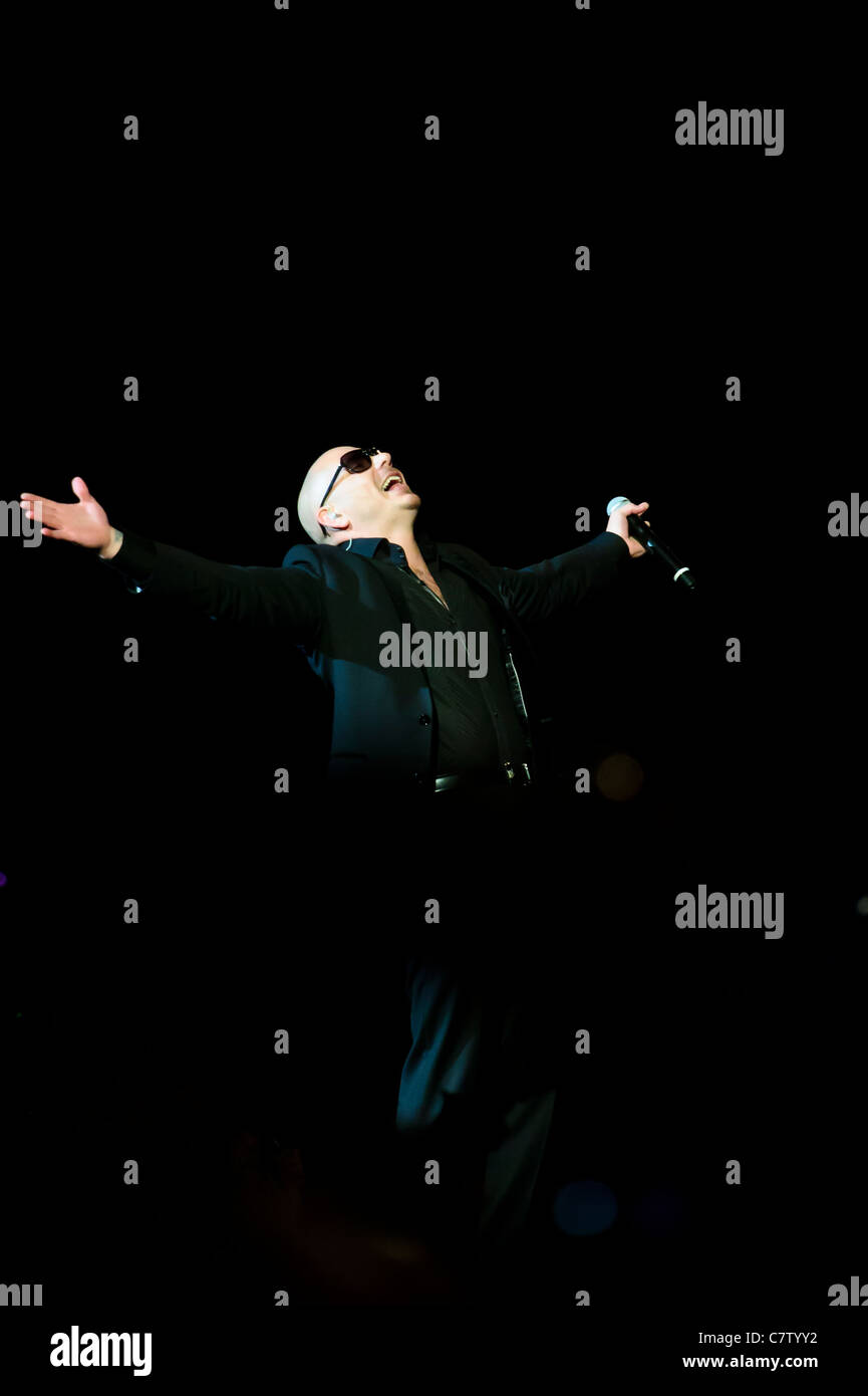 Sep 29, 2011. Pitbull rapper performs at Air Canada Center, Toronto, Canada - Stock Image