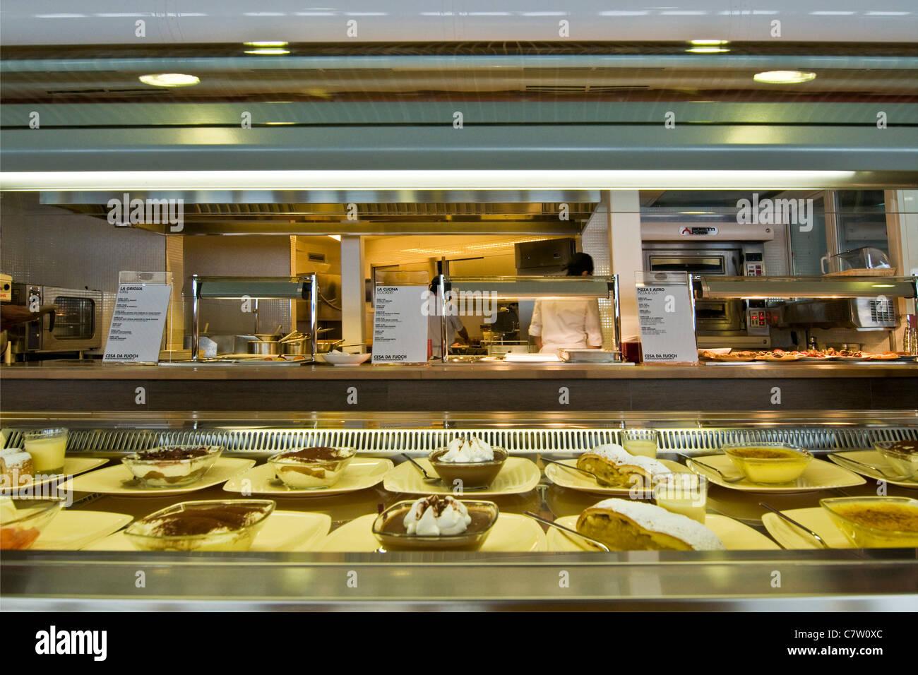 Cafeteria interiors - Stock Image