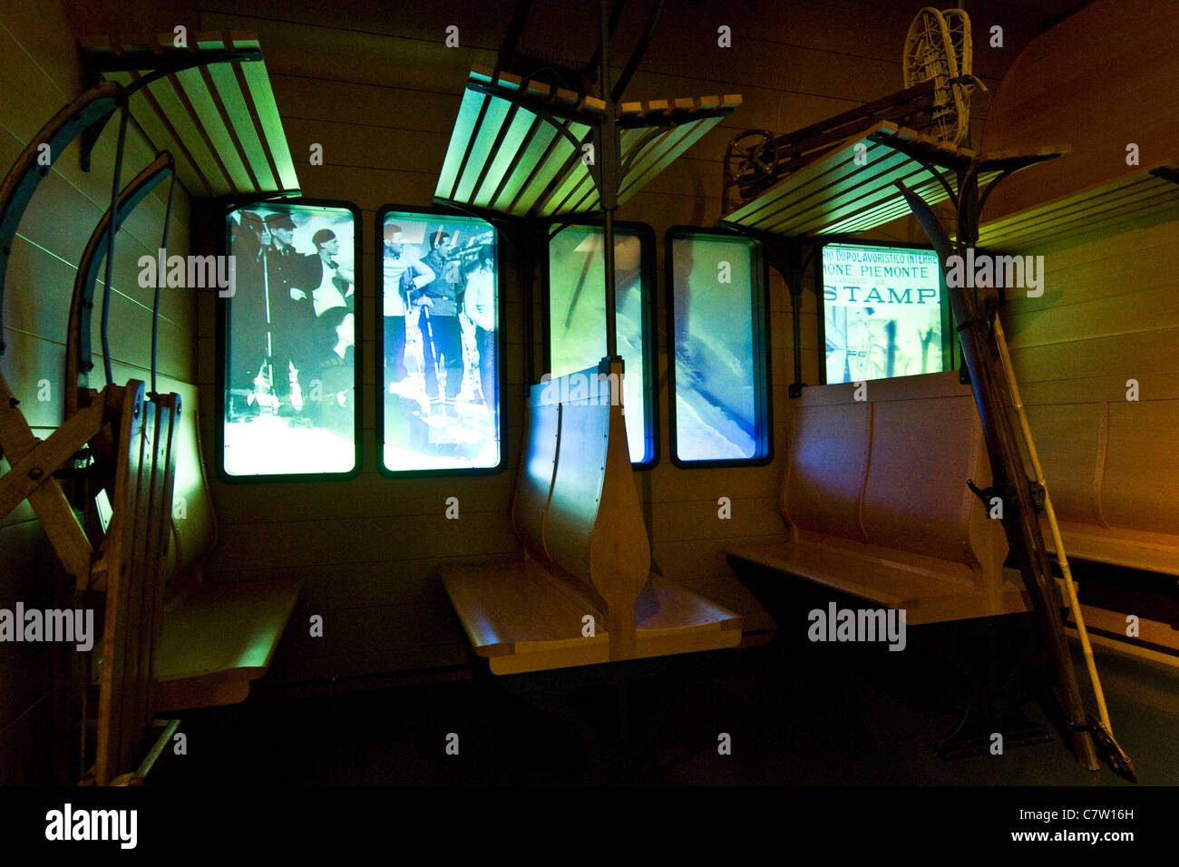 Italy, Aosta Valley, Bard castle museum - Stock Image