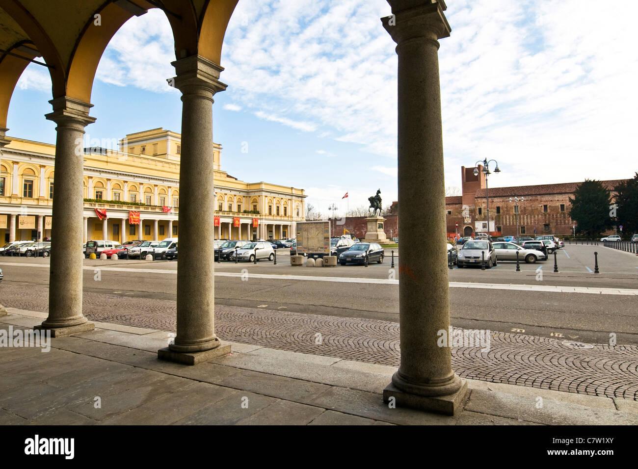 Italy, Piedmont, Novara, Martiri della libertà square - Stock Image